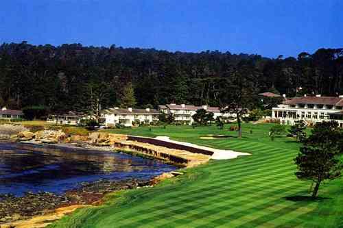 ペブルビーチゴルフリンクス 18H 6,799Y P72 J.ネイビル&D.グラント設計 1919年開場 毎年2月 AT&Tプロ・アマ開催