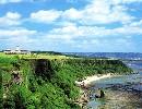 サザンリンクスゴルフクラブ 18H 7,027Y P72 '88年開場 琉球様式装うゴージャスなホテルに泊って、高さ40mの断崖とエメラルドグリーンの海を見下ろす豪快な18ホールです。