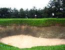 古賀ゴルフクラブ 名物バンカー16番ホールホール 18H 6,783Y P72 上田治設計 昭和28年開場  '02日本アマ開催コース(7/9-7/13)